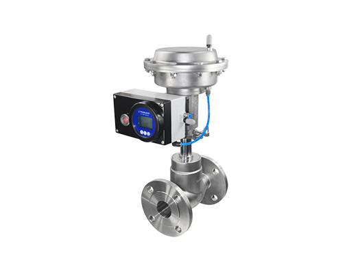 Diaphragm type pneumatic globe valve with positioner