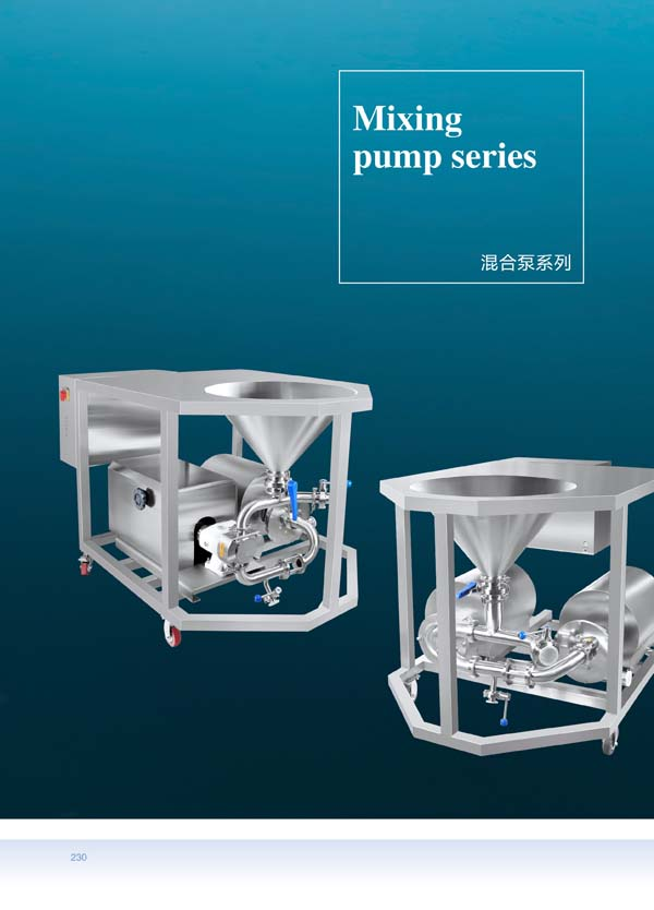 Homogeneous mixing pump