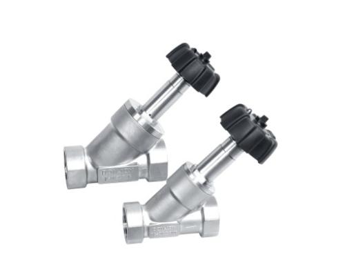 Manual angle seat valves