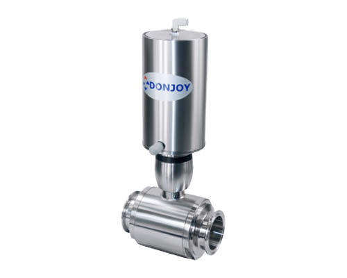 Pneumatic straight ball valve
