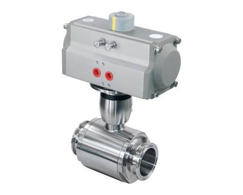 Horizontal pneumatic straight ball valve