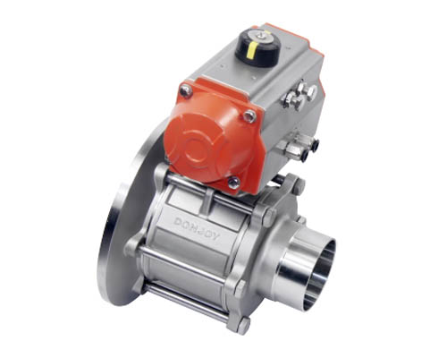 Pneumatic tank bottom ball valve