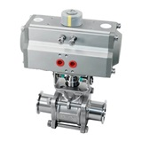 Horizontal pneumatic non-retention ball valve