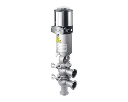 pneumatic reversing globe valve+ control unit